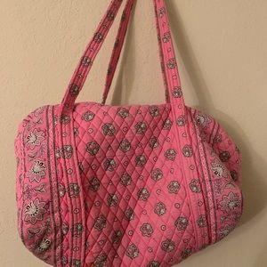 Pink Vera Bradley duffle bag